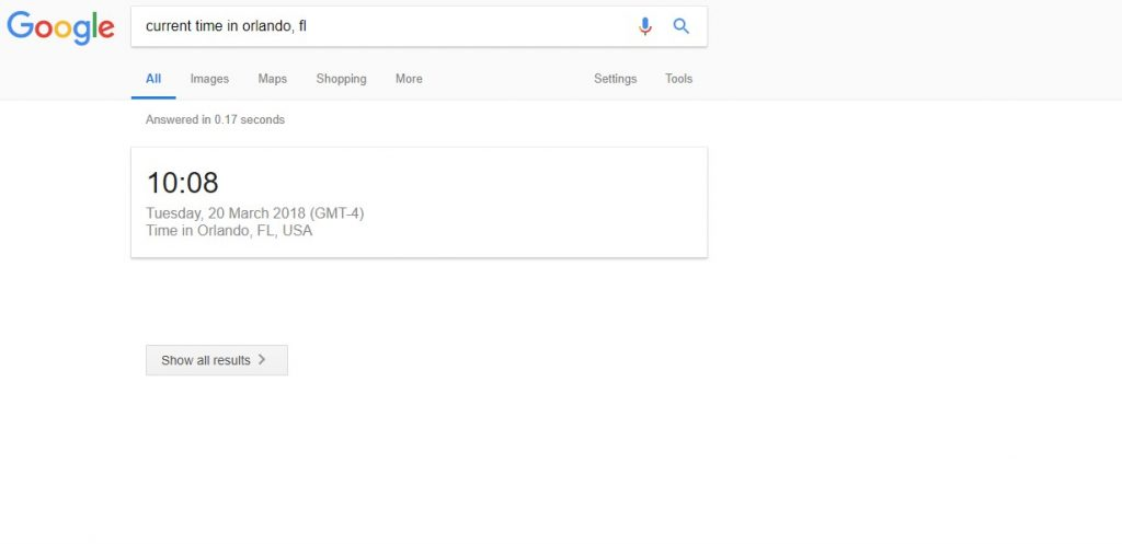 Google l'heure en Orlando, Floride